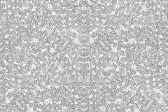 1766 cikkszámú tapéta.Rajzolt,retro,természeti mintás,fehér,fekete,lemosható,vlies tapéta