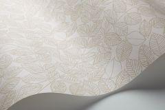 1767 cikkszámú tapéta.Rajzolt,retro,természeti mintás,bézs-drapp,fehér,lemosható,vlies tapéta