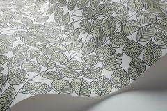 1769 cikkszámú tapéta.Rajzolt,retro,textil hatású,fehér,fekete,lemosható,vlies tapéta