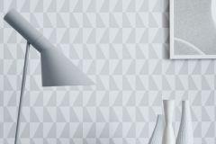 1778 cikkszámú tapéta.Absztrakt,geometriai mintás,retro,fehér,szürke,lemosható,vlies tapéta
