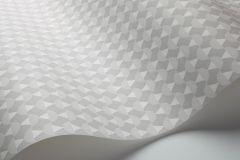 1783 cikkszámú tapéta.Absztrakt,geometriai mintás,rajzolt,retro,fehér,szürke,lemosható,vlies tapéta