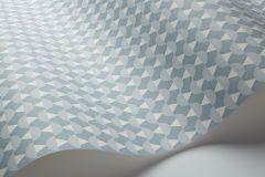 1784 cikkszámú tapéta.3d hatású,absztrakt,geometriai mintás,rajzolt,retro,fehér,kék,szürke,lemosható,vlies tapéta