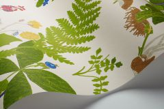 1788 cikkszámú tapéta.állatok,rajzolt,retro,természeti mintás,barna,fehér,kék,lila,sárga,zöld,lemosható,vlies tapéta