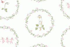 6232 cikkszámú tapéta.Emberek-sztárok,gyerek,különleges felületű,fehér,pink-rózsaszín,zöld,lemosható,vlies tapéta