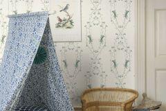6233 cikkszámú tapéta.Emberek-sztárok,gyerek,különleges felületű,rajzolt,virágmintás,fehér,kék,zöld,lemosható,vlies tapéta