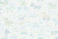 6238 cikkszámú tapéta.állatok,gyerek,különleges motívumos,rajzolt,bézs-drapp,fehér,kék,zöld,lemosható,vlies tapéta
