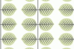 6245 cikkszámú tapéta.Csíkos,különleges motívumos,rajzolt,retro,virágmintás,fehér,fekete,zöld,lemosható,vlies tapéta