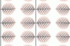 6246 cikkszámú tapéta.Csíkos,különleges motívumos,rajzolt,retro,virágmintás,fehér,fekete,pink-rózsaszín,lemosható,vlies tapéta