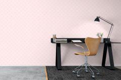 6256 cikkszámú tapéta.Egyszínű,gyerek,pöttyös,rajzolt,retro,pink-rózsaszín,lemosható,vlies tapéta