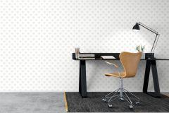6257 cikkszámú tapéta.Különleges felületű,különleges motívumos,pöttyös,rajzolt,fehér,szürke,lemosható,vlies tapéta