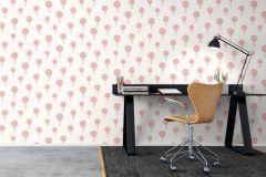 6260 cikkszámú tapéta.Gyerek,különleges felületű,különleges motívumos,rajzolt,fehér,narancs-terrakotta,szürke,lemosható,vlies tapéta
