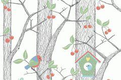6261 cikkszámú tapéta.állatok,különleges felületű,különleges motívumos,pöttyös,rajzolt,retro,természeti mintás,fehér,fekete,kék,piros-bordó,sárga,szürke,zöld,lemosható,vlies tapéta