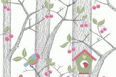 6262 cikkszámú tapéta.állatok,gyerek,különleges felületű,különleges motívumos,rajzolt,retro,természeti mintás,fehér,fekete,kék,pink-rózsaszín,piros-bordó,sárga,szürke,zöld,lemosható,vlies tapéta