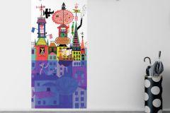 6275 cikkszámú tapéta.állatok,gyerek,különleges felületű,különleges motívumos,rajzolt,retro,vajszín,zöld,barna,bézs-drapp,fehér,fekete,kék,narancs-terrakotta,pink-rózsaszín,piros-bordó,sárga,lemosható,vlies panel, fotótapéta