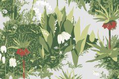 2732 cikkszámú tapéta.Virágmintás,retro,természeti mintás,gyerek,kék,piros-bordó,zöld,fehér,gyengén mosható,vlies  tapéta