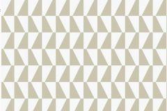 2738 cikkszámú tapéta.Kockás,retro,geometriai mintás,fehér,barna,bézs-drapp,gyengén mosható,vlies  tapéta
