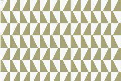 2740 cikkszámú tapéta.Kockás,retro,geometriai mintás,barna,bézs-drapp,zöld,gyengén mosható,vlies  tapéta