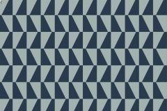 2741 cikkszámú tapéta.Kockás,retro,geometriai mintás,szürke,kék,gyengén mosható,vlies  tapéta