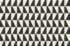 2742 cikkszámú tapéta.Kockás,retro,geometriai mintás,fehér,fekete,gyengén mosható,vlies  tapéta