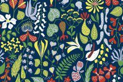 2744 cikkszámú tapéta.Virágmintás,retro,természeti mintás,gyerek,absztrakt,kék,lila,piros-bordó,sárga,zöld,gyengén mosható,vlies  tapéta