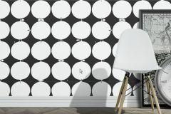 2750 cikkszámú tapéta.Geometriai mintás,fehér,fekete,gyengén mosható,vlies  tapéta