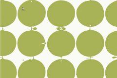 2752 cikkszámú tapéta.Pöttyös,retro,geometriai mintás,fehér,zöld,gyengén mosható,vlies  tapéta