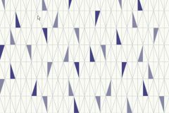 2756 cikkszámú tapéta.Retro,geometriai mintás,fehér,lila,gyengén mosható,vlies  tapéta