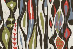 2757 cikkszámú tapéta.Absztrakt,retro,narancs-terrakotta,zöld,fehér,fekete,piros-bordó,gyengén mosható,vlies  tapéta