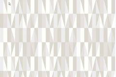 2759 cikkszámú tapéta.Retro,geometriai mintás,fehér,szürke,barna,bézs-drapp,gyengén mosható,vlies  tapéta