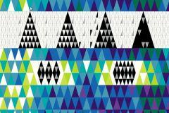 2762 cikkszámú tapéta.Kockás,retro,geometriai mintás,fehér,fekete,kék,türkiz,sárga,zöld,gyengén mosható,vlies panel, fotótapéta