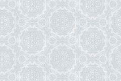6323 cikkszámú tapéta.Barokk-klasszikus,különleges felületű,rajzolt,retro,virágmintás,ezüst,szürke,lemosható,vlies tapéta