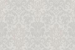 6330 cikkszámú tapéta.Barokk-klasszikus,különleges motívumos,virágmintás,ezüst,szürke,lemosható,vlies tapéta