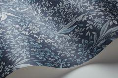 6331 cikkszámú tapéta.Különleges motívumos,rajzolt,virágmintás,kék,vajszín,zöld,lemosható,vlies tapéta