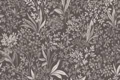 6332 cikkszámú tapéta.Különleges motívumos,rajzolt,virágmintás,barna,bézs-drapp,vajszín,lemosható,vlies tapéta