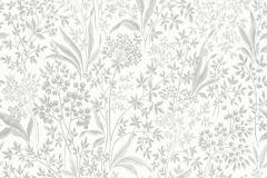 6333 cikkszámú tapéta.Gyerek,különleges motívumos,rajzolt,virágmintás,ezüst,fehér,kék,lemosható,vlies tapéta