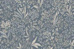6334 cikkszámú tapéta.Különleges motívumos,rajzolt,virágmintás,bézs-drapp,kék,vajszín,zöld,lemosható,vlies tapéta