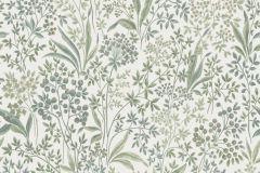6335 cikkszámú tapéta.Különleges felületű,különleges motívumos,rajzolt,virágmintás,bézs-drapp,fehér,vajszín,zöld,lemosható,vlies tapéta