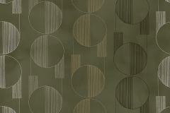 3079 cikkszámú tapéta.Geometriai mintás,retro,szürke,zöld,lemosható,vlies tapéta