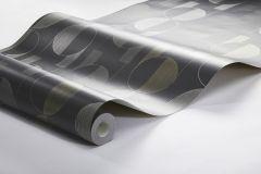 3080 cikkszámú tapéta.Geometriai mintás,retro,fekete,szürke,lemosható,vlies tapéta
