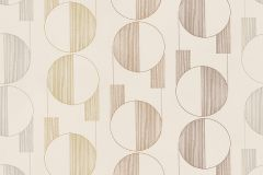 3081 cikkszámú tapéta.Geometriai mintás,retro,barna,bézs-drapp,lemosható,vlies tapéta