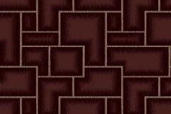 3086 cikkszámú tapéta.Geometriai mintás,kockás,retro,bronz,piros-bordó,lemosható,vlies tapéta