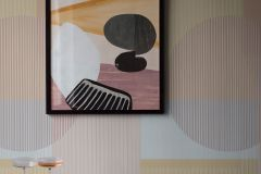 3090 cikkszámú tapéta.Geometriai mintás,retro,bézs-drapp,narancs-terrakotta,szürke,vajszín,lemosható,vlies poszter, fotótapéta