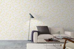 1455 cikkszámú tapéta.Absztrakt,fehér,sárga,lemosható,vlies tapéta