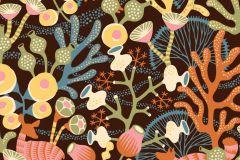 1461 cikkszámú tapéta.Absztrakt,állatok,gyerek,rajzolt,természeti mintás,virágmintás,barna,bézs-drapp,fekete,kék,narancs-terrakotta,pink-rózsaszín,sárga,zöld,lemosható,vlies tapéta