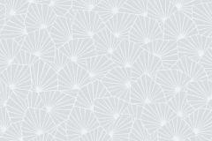 1464 cikkszámú tapéta.Absztrakt,geometriai mintás,virágmintás,fehér,kék,szürke,lemosható,vlies tapéta