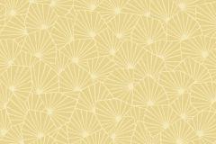 1466 cikkszámú tapéta.Absztrakt,gyerek,virágmintás,fehér,sárga,lemosható,vlies tapéta
