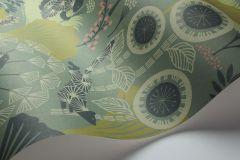 1469 cikkszámú tapéta.Absztrakt,állatok,gyerek,rajzolt,természeti mintás,virágmintás,barna,bézs-drapp,kék,türkiz,zöld,lemosható,vlies tapéta