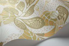 1475 cikkszámú tapéta.Absztrakt,gyerek,rajzolt,természeti mintás,virágmintás,barna,bézs-drapp,fehér,sárga,szürke,lemosható,vlies tapéta