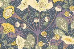 1476 cikkszámú tapéta.Absztrakt,gyerek,természeti mintás,virágmintás,barna,bézs-drapp,lila,sárga,zöld,lemosható,vlies tapéta