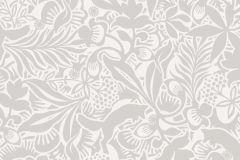1477 cikkszámú tapéta.Absztrakt,gyerek,rajzolt,virágmintás,fehér,szürke,lemosható,vlies tapéta